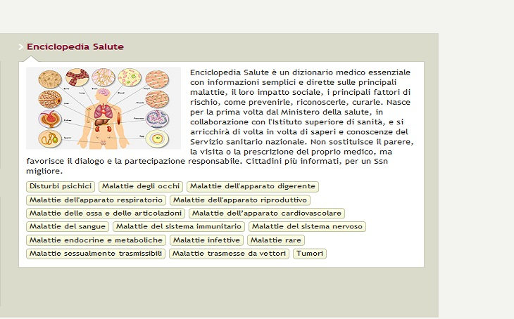 enciclopedia salute ministero